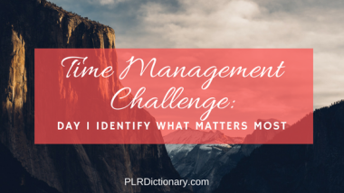 Time Management Challenge Day 1